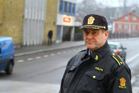 Roger Fjellin er ansvarlig for trafikk ved Kongsberg politistasjon.