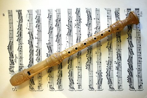 FAVORITT:  Av de tusen fløytene Bodil har laget, er dette favoritten: En Sixtflute i D, med nydelige utskjæringer.