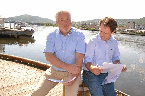 Pål Smits i Lindum AS og Lars-André harvik i HTS Maskinteknikk AS kan glede seg over at deres bedrifter har best omdømme i drammensregionen i ny undersøkelse.