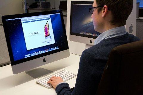 Apple har lansert en ny alt-i-ett-maskin som blir litt rimeligere enn forgjengeren. Den nye iMac-en har også en skjerm på 21,5 tommer, men spesifikasjonene er nedjustert litt.