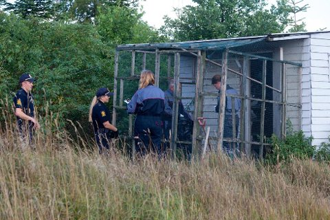 INSPEKSJON: Politiet og Mattilsynet dro ut for å sjekke ut tipset. (Foto: Peder Gjersøe)