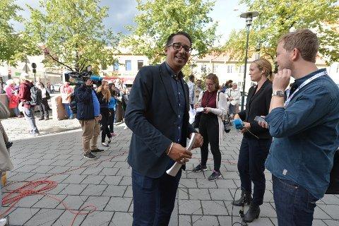 Yousuf Gilani er initiativtaker og talsperson for demonstrasjonen i Oslo.
