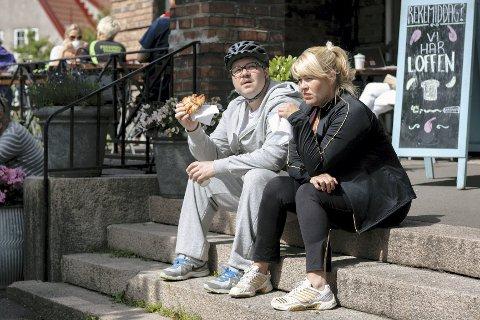 Ektepar: Monica Hjelle fra Fredrikstad er gift med Nils Jørgen Kalstad i dramaserien «Kampen for tilværelsen» som har tv-premiere 10. september. Foto: Thomas Ekström