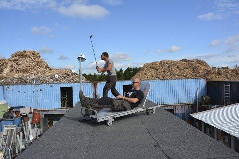 Store planer: Renzo Miracco og Nils T. Håmo ser store muligher på Gjenbruket.