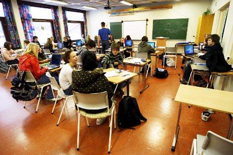 Undervisning: Lærerens undervisning når sjelden fram til Malin, den forsvinner ut i småsnakk og uroligheter, skriver innsenderen.  illustrasjonsFoto: Lise Åserud / SCANPIX