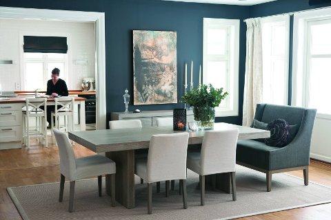 Slik kan det se ut når interiørdesigner Halvor Bakke får bestemme fargene.