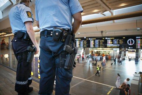 PST la onsdag fram en ny vurdering av trusselbildet mot Norge. Her fra i sommer da beredskapen ble høynet grunnet en trussel.