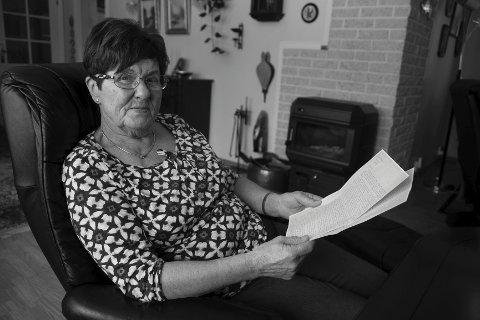 Marit Nilsson i Røldal, datter av avdøde lensmann Halvor Vågslid. Foto: Kai-Inge Melkeraaen