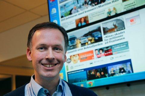 REDAKTØR: Arnstein Olaisen er konstituert ansvarlig redaktør i Mediehuset Haugesunds Avis. FOTO: ALFRED AASE.