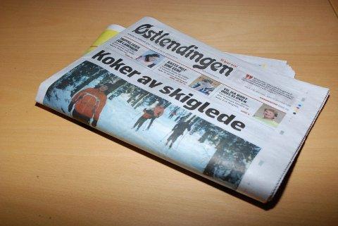 GÅR NED: Østlendingen mistet 961 abonnenter i 2009. - Dette er tall vi ikke er fornøyd med, sier redaktør Nils Kristian Myhre. Foto: Torgrim G. Bakke