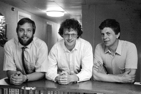 Det var i 1985 de tre veteranene Tore Olavesen (f.v), Wiggo Andersen og Richard Johannessen startet Fredrikstad Reisebyrå A/S sammen.