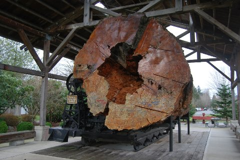 """The Giant Log tilhører Northwest Railway Museum og hadde en beskjeden rolle i """"Twin Peaks""""."""