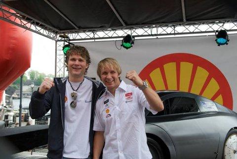Jardar Sølna Øverby og Petter Solberg avduket DNV Fuel Fighter for publikum onsdag. Nå går de for verdensrekord.