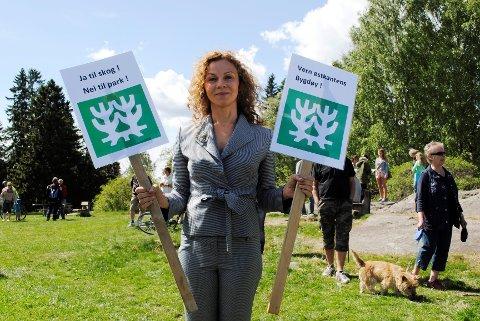 Kari Jaquesson vil ikke at Ekebergskogen skal måtte vike for skulpturpark.