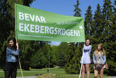 Folkeaksjonen for bevaring av Ekebergskogen.$PHOTOHEADER_ON$$PHOTOHEADER_OFF$