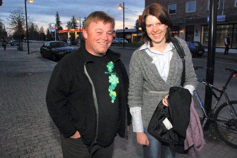 SP-DUO: Dag Rønning, Engerdal blir ny fylkesordfører mens Ida Kristine Teien blir ny gruppeleder i fylkestinget for Sp. Foto: Rune Hagen