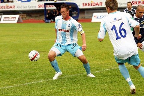 SKADET: Anders Lübeck hadde sett frem til møtet med kompisen fra Son, men må stå over oppgjøret mot Stabæk 2 på grunn av en strekkskade.