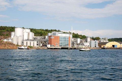 Pronova BioPharma har fabrikker i Sandefjord (bildet) og i Kalundborg. Selskapet er eid av fondet Herkules.
