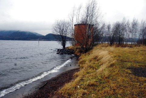 Stela: Her ser man for seg at Brumunddals egen Skibladnerbrygge kan ligge. Foto: Ane Holmlund