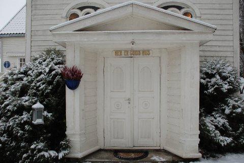GUDS HUS: Inngangspartiet til kapellet slik det fremstår i dag.