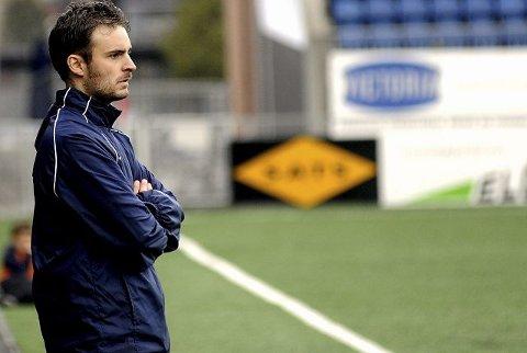 KYNISK. Trener i Drammen FK, Håkon Grøttland, satser ikke på finspill i cupens andre runde. FOTO: PER ABRAHAM GRENNÆS