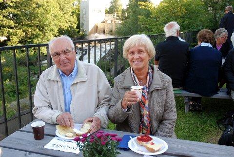 Egil og Eva Thømt har vært med på fossefrokosten i en årrekke.