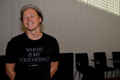 DRITTSEKK: Produktnavnet Douchebag betyr drittsekk på engelsk. – Har du hørt det, husker du det, sier Truls Brataas, elverumsingen som ble Årets unge gründer i Hedmark i 2013.