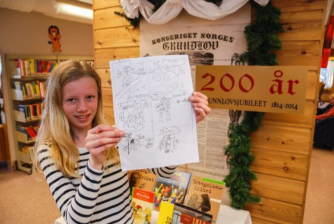 Marit Pelle var en av deltakerne på tegneseriekurset på Tune bibliotek.