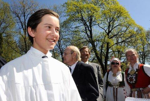 Thomas Glede Fekete var godt fornøyd med dagen søndag, og så fram til å fortsette feiringen med god mat og egen tale.