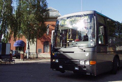 BUSS FOR TOG: Det kjøres buss for tog på strekningen mellom Eidsvoll og Dombås i helgen.