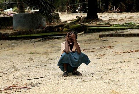 <b>FORTVILELSE.</b> Sri Lanka er blant de hardest rammede av flodbølgenes herjinger. Nå vil norsk idrett hjelpe de mange som er rammet. FOTO: SCANPIX