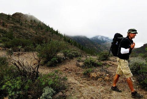 Björn Westin, som er fjellguide på Rocky Adventures, stortrives med å bo og gå tur på Gran Canaria.