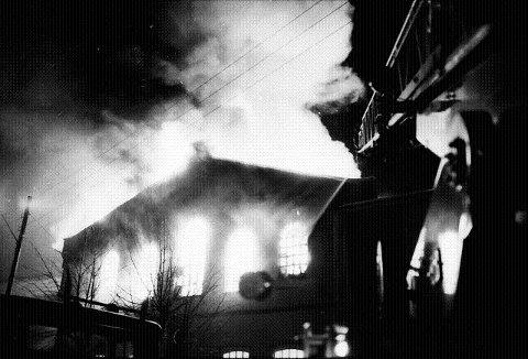 Union på Grønland ble brannherjet. Seks maskiner ble totalskadet og verdier for ca. to mill. kroner er gikk tapt.