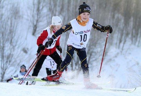 Stine Bergersen har fullt fokus opp motbakken på sprinten.