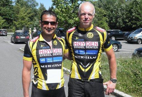 Bedir Yiyit (til høyre) og Rune Holtze Jensen er klare for New York Maraton.     løping, friidrett, utholdenhet