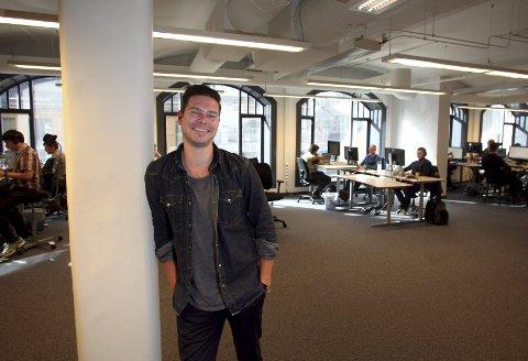 Ambisiøs: Kjartan Slette mener det å strømme musikk er fremtiden, og tar opp kampen med Spotify og iTunes. Ulovlige nedlastingstjenester som Pirate Bay ofrer han ikke en tanke.begge foto: are bye