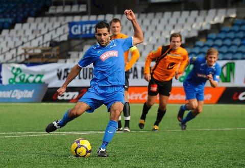 Faramarz Nemati og Drammen FK slo ROS 3-1. Bilder er tatt ved en annen anledning.