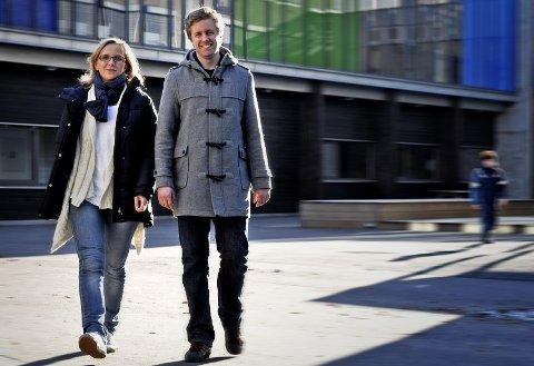 Vellykket prosjekt: Therese Z. Helgesen og Erik Kruse jobber med rusforebygging på fire ungdomsskoler.arkivfoto: geir carlsson