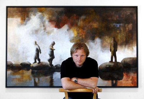 HAR TEMA: – Når jeg kommer inn i atelieret om morgenen, lurer jeg ikke på hva jeg skal gjøre, men hvordan, sier Lars Løken.