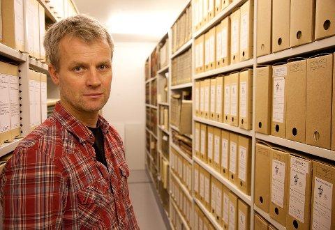 Hele arkivet til gamle Dyno ligger trygt forvart i Riksarkivet i Oslo, og arkivar Per Kristian Ottersland sier arkivet nå er i trygg forvaring.