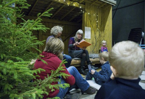 BOKHJØRNE: Synnøve Borge forteller om flaggermusen «Brunlangøre» i bokhjørnet.