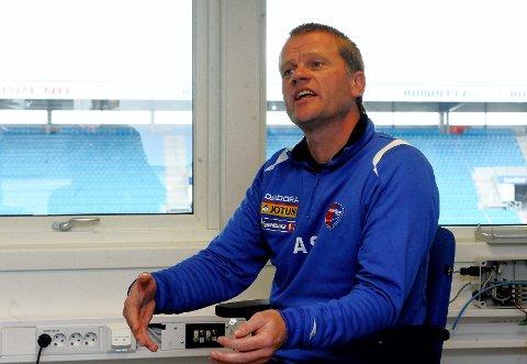 Arne Sandstø forsterker laget for ikke å sakke akterut. Foto: Anders Mehlum Hasle