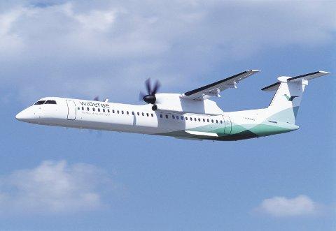 Et fly fra Widerøe fikk problemer på vei til Trondheim. Foto: Widerøe