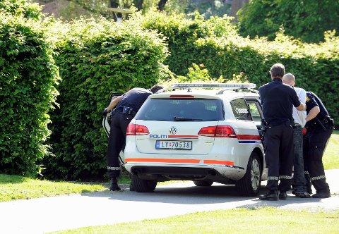 Mannen nektet å forlate Badeparken. Han ble derfor innbragt til arresten i Tønsberg.