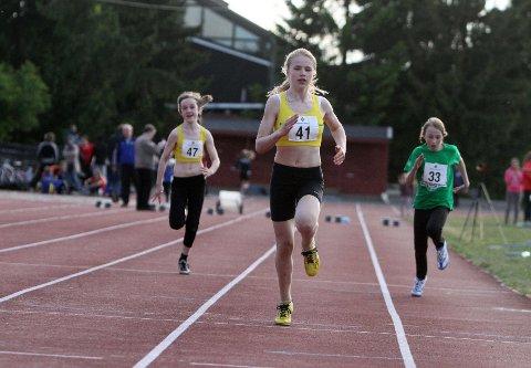 Karine Jacobsen vant 60 meter i sin klasse.
