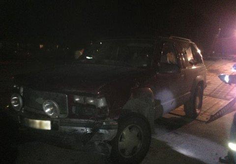 Her er den stjålne bilen innbruddstyvene brukte.