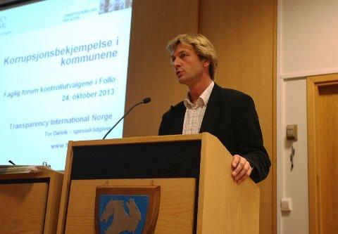 Tor Dølvik i Transparency International Norge advarte mot korrupsjon i kommunene.