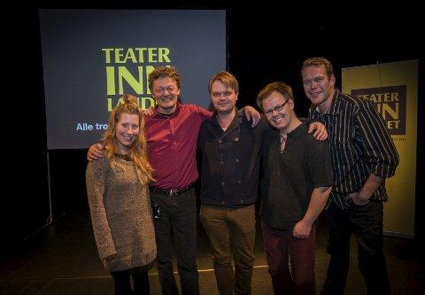 GLEDER SEG: Therese Slob, John Nyutstumo, Tom Styve, Frode Berntzen og Håvard Bakke skal turnere for Teater Innlandet denne våren. Foto: Jo E. Brenden