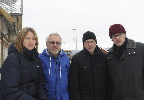 Tar toget TIL OSLO: Fra venstre: varaordfører Merethe Myhre Moen (Sp), Peder Hodøl (KrF), Kjetil Leteng i Næringsforum i Fjellregionen og ordfører Bersvend Salbu (SV),