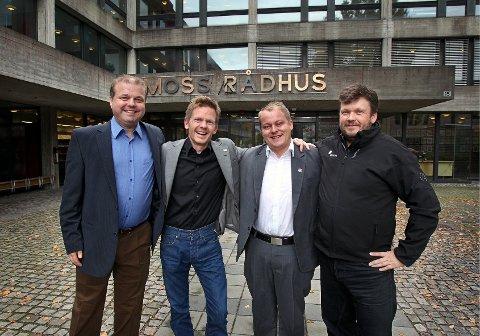 Fra venstre: Halvard Sand (Krf), Tage Pettersen (H), Erlend Wiborg (Frp) og Sindre Westerlund Mork (V).
